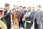 The Far East District contractor gave engineers from the Korean Ministry of National Defense an overview of the air craft parking project at U.S. Army Garrison Humphreys during the MND Exchange Program April 5.