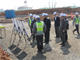 Lieutenant General (Ret.) Kim, Kie Soo, Chief Director of Ministry of National Defense U.S.Forces Korea Base Relocation Office visited Camp Humphreys construction site. During his visit, he was given a briefing of the new medical and dental hospital as well as the high school project.